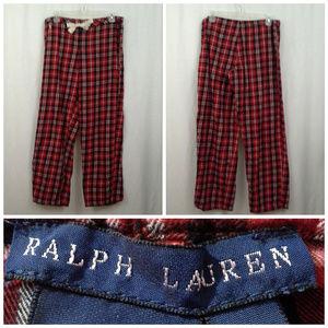 Ralph Lauren pajama pants M Red black plaid Sleep